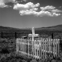 Gravesite in the Colorado mountains